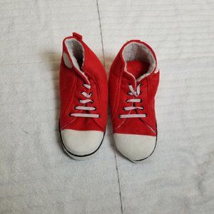 Shoes - Red High Top Sneakers House Slippers